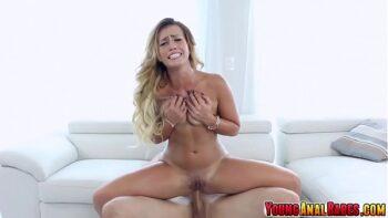 Loira rabuda e peituda no sexo anal